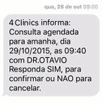 Confirmação de comparecimento via SMS